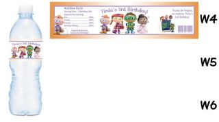 Super Why Printed Water Bottle Labels Birthday Party Favors Supplies