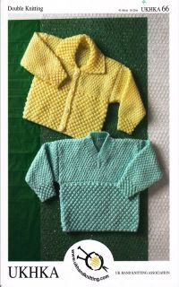 Childrens Double Knitting Pattern Baby DK Jacket V Neck Cardigan 16 26' Ukhka 66