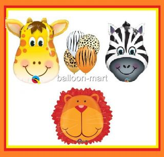 Jungle Safari Animals Party Supplies Balloons Giraffe Zebra Baby Shower Birthday