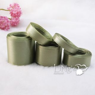Yellow Green Series Multiple Sizes Satin Ribbon Wedding Party Favor Decor Bow