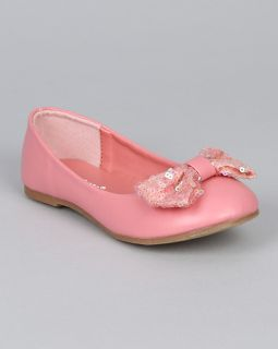 Jelly Beans ETA New Round Toe Ballet Ballerina Flat Sequined Bow Accent Toddle