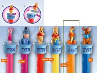 Pez Disney Winnie Pooh Tigger Piglet Bonbon Candy Birthday Party Supply Series