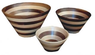 Amish Kitchen Wood Bowls Unique Turned Handmade Gift Wooden Salad Fruit New