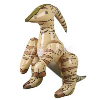 24'' Cool Cute Inflatable Blow Up Parasaurolophus Dinosaur Toys Party Favor Gift