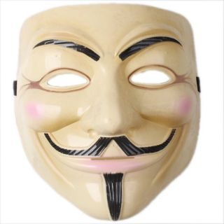 Scary Halloween Masquerade Mask Plastic Head Mask Vendetta Guy Fancy Dress Party