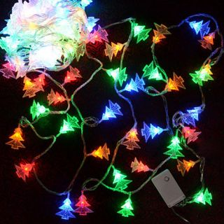 20 LEDs Christmas Tree Shape Fairy String Lights RGB Color Party 3M 2W US Plug
