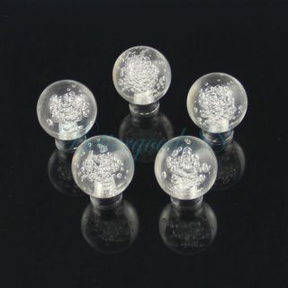 5pcs 25mm Clear Ball w Bubble Door Knob Cabinet Drawer Pull Handle DIY Gift