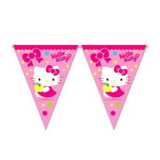 Authentic Sanrio Hello Kitty Child Birthday Party Supplies Bunting Flag Banner