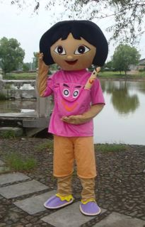 Professional Cartoon Explorer Girl Dora Mascot Costume Halloweenparty Adult Size