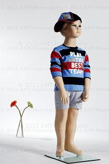 Child Mannequin Displays Baby Boy Clothes T Shrits 1 Year Old Boy Manikin Scott
