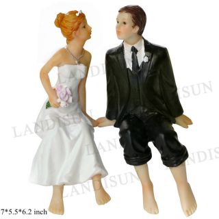 Resin Figurine Bride Groom Wedding Party Gift Cake Topper Home Decoration