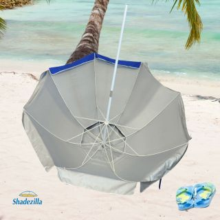 9 Foot Jumbo Heavy Duty Beach Umbrellas UPF100 with Tilt Fiberglass Ribs