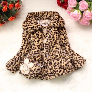 Toddler Baby Girls Faux Fur Coat Outwear Clothes Warm Winter Jacket Snowsuit