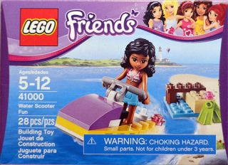 Lego Friends Water Scooter Fun Kate Minifigure 41000 28 Pieces Beach Fun Set 673419189958