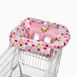 Taggies Cozy Deluxe Pink Owl Polka Dot Travel Shopping Cart High Chair Cover New
