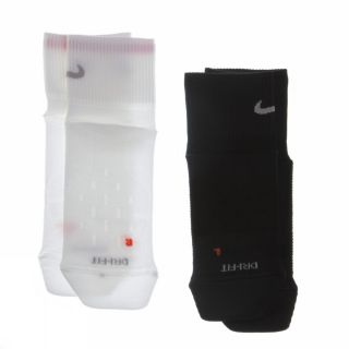 Nike 2P Run LTWT Quarter SMLX XL White Black Socks Mens Womens Running New