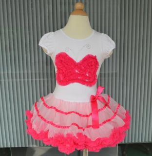 Girls Kids Baby Pettiskirt Tutu Skirt 2 8Y Party Dress Top Flowers Cute Clothing
