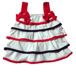 3pcs Baby Girls Toddler Layer Tier Top Dress Headband Pants Shorts Outfits 0 24M