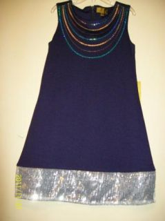 Nicole Miller Kids Embellished Party Dress Navy 10
