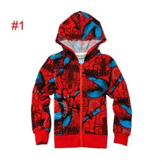 Boys Clothes Kid Mickey Hero Hoodies Top Shirt Outwear Jumper Sweater 2 7Y Coat