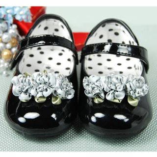 New Toddler Girl Black Mary Jane Shoes Size 5 6 7 8 896