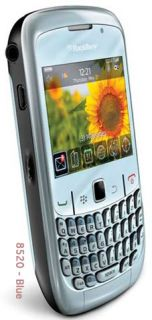 New Rim Blackberry Curve 2 8520 Unlocked Blue QWERTY Keyboard WiFi Camera Phone