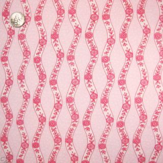 Free Spirit Fabric Baby Girl Toile Pink Rolling Stripes