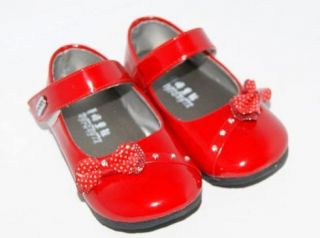 Baby Toddler Girls Mary Jane Style Dress Shoes Red New Size 4 7 Elegant Shoes