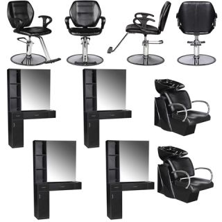 Salon Equipment Styling Station Chair Shampoo Backwash Unit Bowl Package EB 14