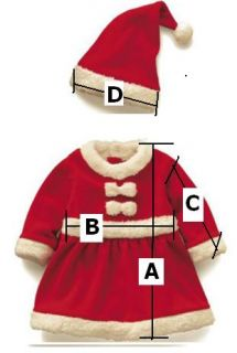 Fancy Party Wear Baby Christmas Costume Outfit Santas Fancy Dress 6 24M