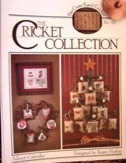 Pattern CrossStitch Cricket Collection Advent Calendar Ornaments Christmas Ornie