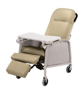 Lumex 574G Three 3 Position Recliner Geri Chair Doeskin
