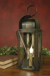 "Milk House Lantern Aged Copper Look Finish Large 17"" Tall Candle Lamp Lighting"