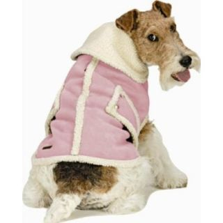 X Small Pet Dog Animal Coat Jacket Faux Pink Suede Wool Black Friday Sale