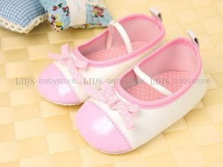A596 New Toddler Girl Baby Pink Mary Jane Shoes Size 4