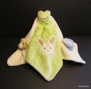 Blankets Beyond Baby Security Lovey Frog Dog Bunny Bear Green White Blue Nunu