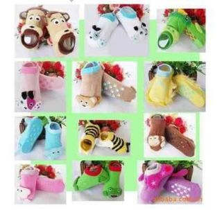 Baby Girl Boy Toddler Anti Slip Socks Grip Slippers Animal Characters Gift