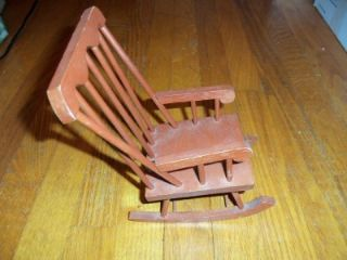 Wooden Rocking Chair Doll House Furniture Wood Baby Chair