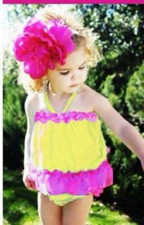 Girls Baby Ruffle Top Dress Pants Headband Set 0 24months Bloomers Clothing