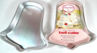 2 Vintage Bell Cake Pans with Insert 1971 502 2057