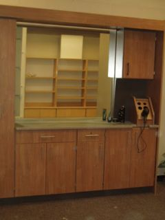 New Proto Type Beauty Shop Styling Complete Wall Unit Station