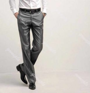 New Korean Mens Fashion Stylish Slim Fit One Button Suit Pants Trousers Set