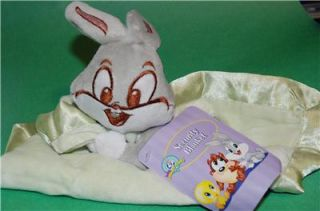 Looney Tunes Bugs Bunny Green Security Blanket Baby Girls Boys Infant Plush Toy