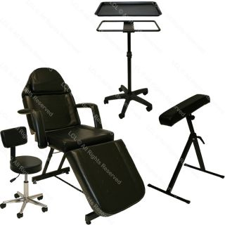 Tattoo Package Massage Table Bed Chair Mayo Tray Arm Bar Rest Salon Equipment