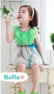 Casual Girls Toddler Kids Floral Printed Chiffon Tulle Dress Princess Skirt 3 4Y