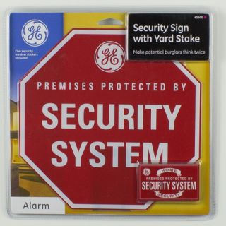 GE Security Sign with Yard Stake 45400
