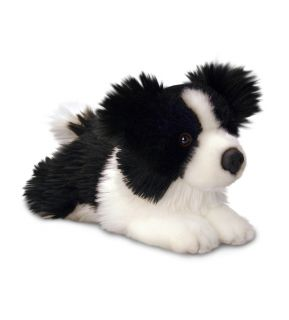 Keel Toys 25cm Laying Jessie Border Collie Puppy Sheep Dog Soft Plush Cuddly Toy