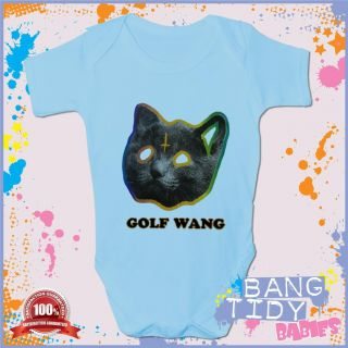 OFWGKTA Cat Baby Grow Wolf Gang Odd Future Tyler Fun Boy Girl Babies Clothing