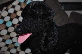 Black Life Like Poodle Giant Jumbo Plush Puppy Dog Melissa and Doug 2 Foot