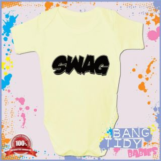 Swag Baby Grow Funny Boy Girl Babies Clothing Cool Fun Gift
